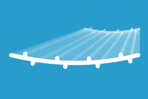 Wzmocnienia pasów PCV w postaci podłużnych żeber