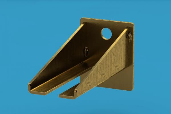 Uniwersalny regulowany wspornik do mocowania szyn. Montaż do ściany.