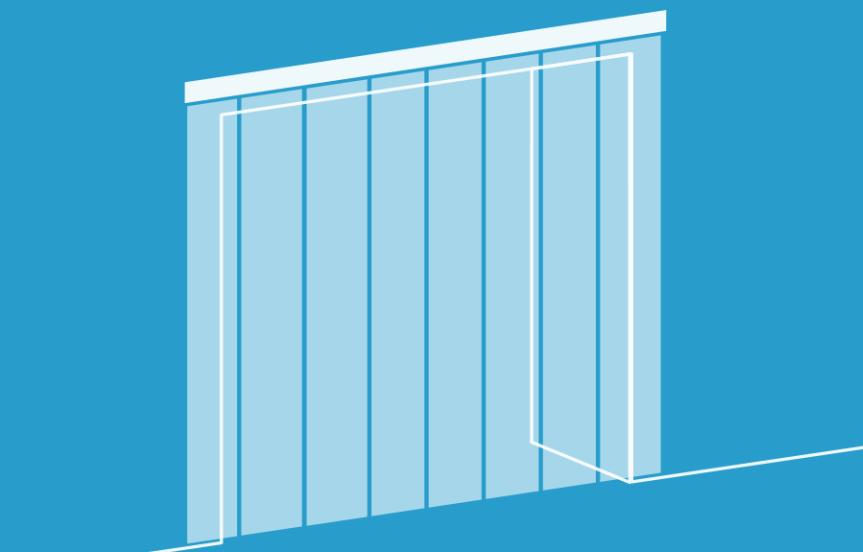 Schenat kurtyny paskowej mocowanej nad drzwiami