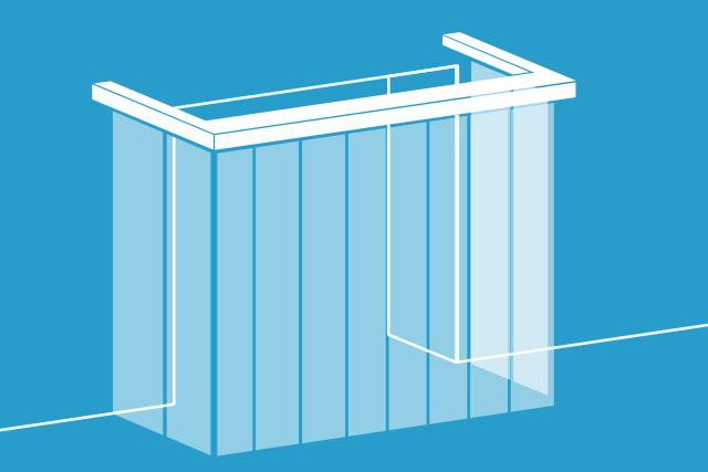 mocowanie kurtyny paskowej do konstrukcji wsporczej
