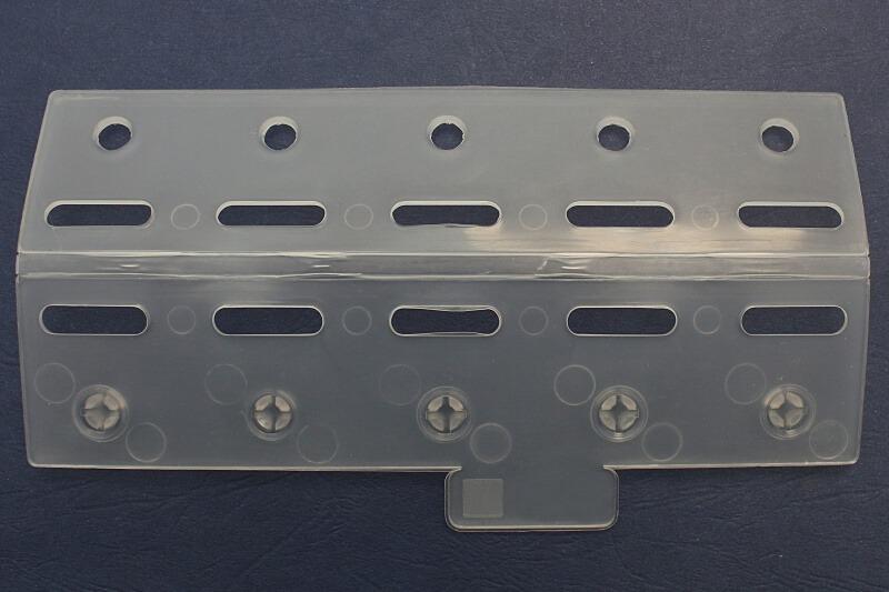 Płytka mocująca pasy o szerkości 200mm, wykonana z tworzywa