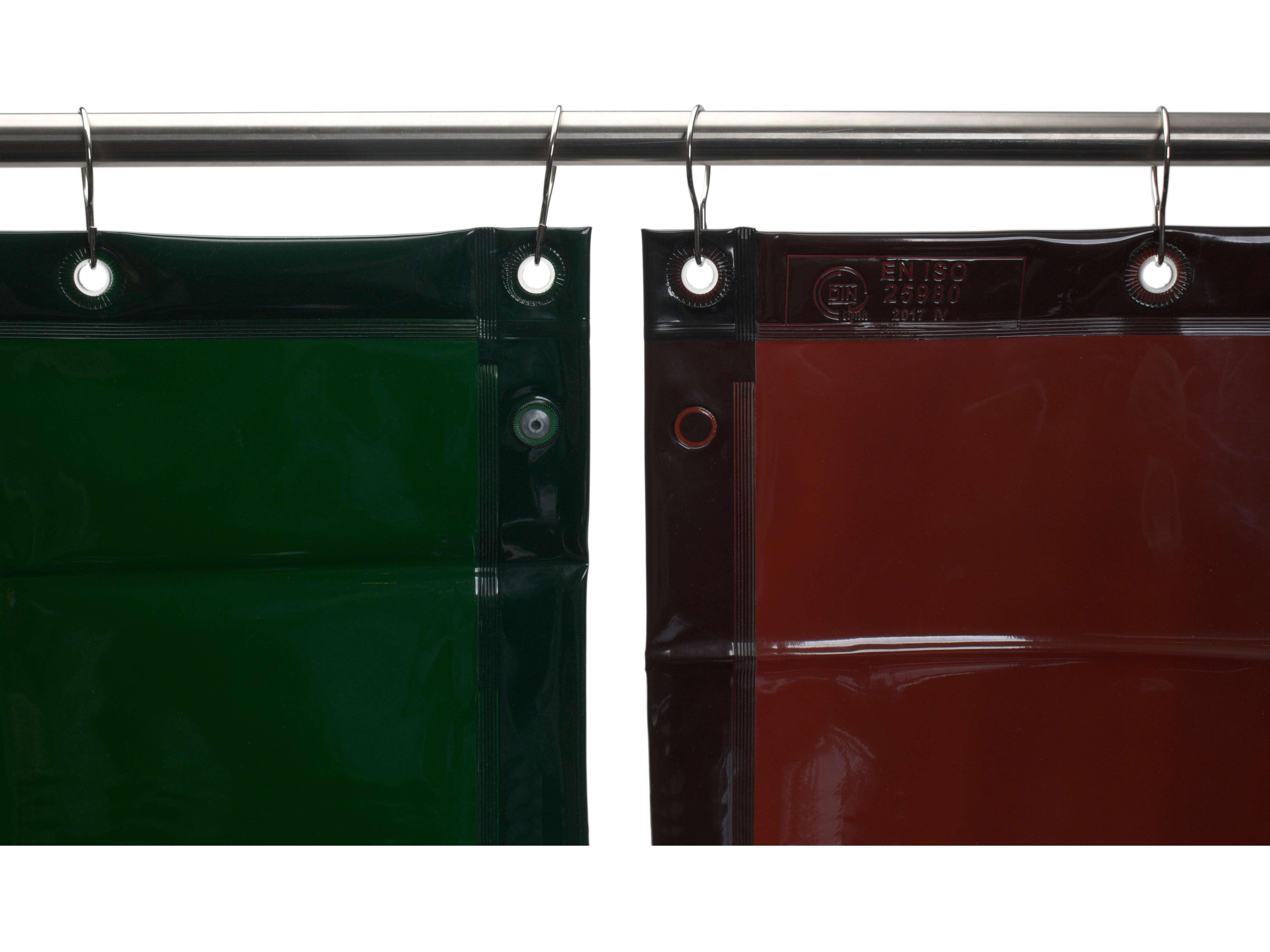 Zasłony spawalnicze z folii o grubości 0.4mm, dostępne są różne rozmiary i kolory