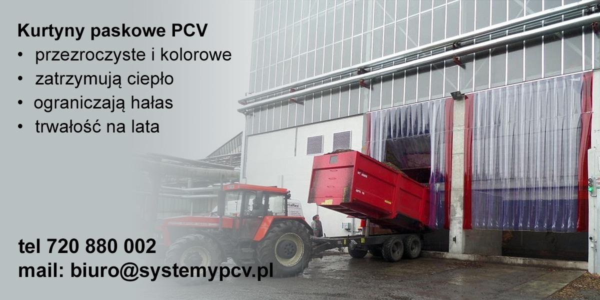 Kurtyny paskowe PCV dostawa do Warszawy